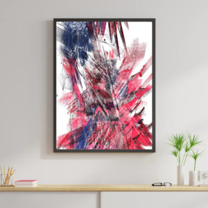 Mock up poster frame of generative artwork